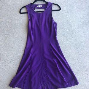 BB Dakota Purple Keyhole Back Dress